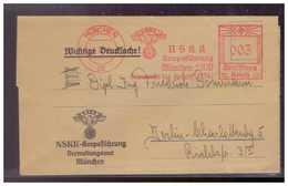 DT- Reich (009468) Propaganda NSKK Vorgedruckter Faltbrief Mit Zahlkarte, Mahnung, Mitgliedsbeitrag 1936, München - Allemagne