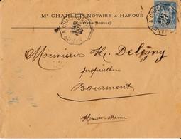 N° 90 1890 Nancy à Chalindrey - Marcophilie (Lettres)