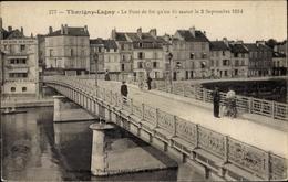 Cp Lagny Thorigny Seine Et Marne, Le Pont De Fer Qu'on Fit Sauter Le 3 Septembre 1914 - Autres Communes