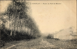Cp Viroflay Yvelines, Route Du Pave De Meudon - France