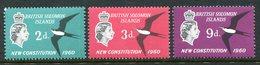 British Solomon Islands 1961 New Constitution Set MNH (SG 97-99) - Salomonen (...-1978)
