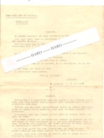 Armée Belge - Guerre 40/45 - Copie De Lettres De SM Le Roi Léopold Aux Soldats Et Au Président Des USA 1940 - 1939-45
