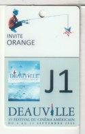 CINÉCARTE - CARTE CINÉMA - Festival De Deauville J1 - Invité Orange - Movie Cards