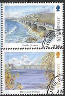 2018 Guernsey Mi. 1679 + 1681  Used     Europa : Brücken - 2018