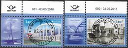 2018 Estland Esti  Mi. 919-20 Used    Europa: Brücken - 2018