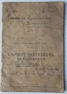 Carnet De Tir Individuel ABL 1er Régiment De Carabiniers Belgische Leger Armée Belge Cible 6ème Division D'Armée - Vieux Papiers