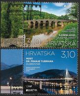 2018 Kroatien  Hrvatska   Mi.1318-9 Used    Europa: Brücken - 2018