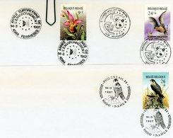 2244/46 (environnement) Sur Lettres : 3 Cachets DIFFERENTS Prévente Ferrières, Houthalen, Namur - Postmark Collection
