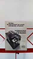 Ancienne Publicité De Presse Automobile De 1970 Batterie Bosch - Vervoer