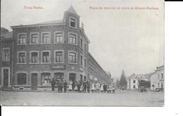 Trois-Ponts - Place Du Marché Et Route De Grand-Halleux - Circulé - Etat: Voir 2 Scans. - Trois-Ponts