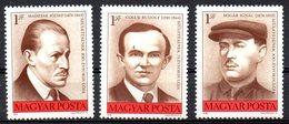 HONGRIE. N°2518-20 De 1976. Combattants Du Mouvement Ouvrier. - Ungarn