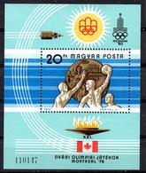 HONGRIE. BF 128 De 1976. Water-polo Aux J.O. De Montréal. - Wasserball