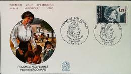 FRANCE - FDC - 1985 (Oblitération Pauline KERGOMARD) Hommage Aux Femmes ECOLE MATERNELLE - Enveloppe Premier Jour - 1980-1989