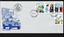 Trinidad & Tobago FDC 1986 60th Birthday Queen Elizabeth II  (NB**LAR9-86) - Königshäuser, Adel