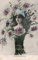 CPA  LES GERBES---SOUHAITS SINCERES---1904---PHOTO. H. MANUEL - Fleurs