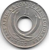 East Africa Uganda 1 Cent 1917 H  Km 7  Xf++ !!!!  Catalog Val 20$ - Oost-Afrika & Protectoraat Van Uganda