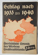Buch SCHLAG Nach 1933 Bis 1940 Ubersichtliche Chronik Des Werdens Grossdeutschands Story NSDAP Hitler - Livres, BD, Revues