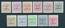 PRE 736/746 XX Postfris - Cote 24,00 - Typo Precancels 1951-80 (Figure On Lion)