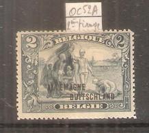 COB-OCB OC52A - Type II (2e Tirage) - X/MH (à Voir) - WW I