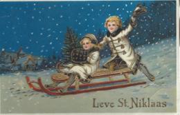Lieve St Niklaas - Enfants Sur Un Traineau - Saint-Nicholas Day