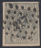 """Petit Lion Non Dentelé - N°22 Obl Pt 217 """"Liège"""". Superbe Frappe / Aminci. - 1866-1867 Blasón"""