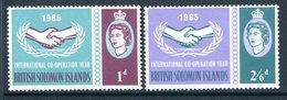 British Solomon Islands 1965 International Co-operation Year Set MNH (SG 129-130) - Iles Salomon (...-1978)