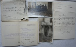 ABL Brieven Lieutenant H Thienpont Uit Gent Occupation Allemagne 1920 Cercle Grevenbroich Mönchengladbach - Unclassified