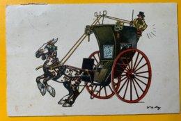 12454 - Calèche Cheval Cabré  De Wr De May Offert Par Les Biscuits Chollet Genève - Autres Illustrateurs