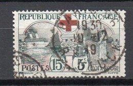 - FRANCE N° 156 Oblitéré - 15 C. + 5 C. Noir Et Rouge Croix-Rouge 1918 - Cote 70 EUR - - France