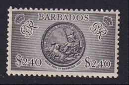 Barbados: 1950   KGVI    SG282    $2.40      MH - Barbades (...-1966)