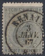 """émission 1865 - N°17 Obl Double Cercle """"Renaix"""" (1867). TB - 1865-1866 Profiel Links"""