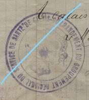 Titre De Congé ABL 1918 Médecin Belge Hôpital Militaire CALAIS Service De Santé Vers Stokkem Naast Maaseik - Timbres