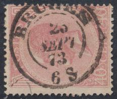 """émission 1865 - N°20 Obl Double Cercle (Dcb) """"Bruges"""" (1873). TB - 1865-1866 Profile Left"""