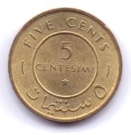 SOMALIA 1967: 5 Centesimi, KM 6 - Somalia