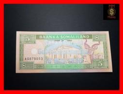 SOMALILAND 5 Shilin 18.5.1996  P. 14 *COMMEMORATIVE* Silver Overprint RARE  UNC - Banknotes