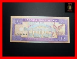 SOMALILAND 10 Shilin 18.5.1996  P. 15 *COMMEMORATIVE* Silver Overprint RARE  UNC - Banknotes