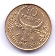 MADAGASCAR 1989: 10 Francs, KM 11 - Madagascar