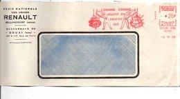 EMA USINES RENAULT L'ECHANGE STANDARD DOUAI 1959 - Marcophilie (Lettres)