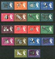 British Solomon Islands 1966 Decimal Currency Surcharges - Wmk. Sideways - Set MNH (SG 135B-152B) - Iles Salomon (...-1978)