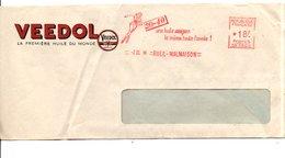 EMA HUILE VEEDOL RUEIL MALMAISON 1958 - Marcophilie (Lettres)