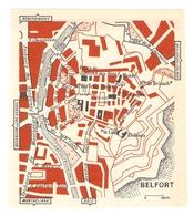 CARTE PLAN 1960 - BELFORT - LE LION CHATEAU MONT DES TROIS SIEGES MUSÉE - Mapas Topográficas