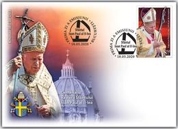ROMANIA  2020  CENTENARY OF THE BIRTH OF POPE JOHN PAUL II-FDC - Papas