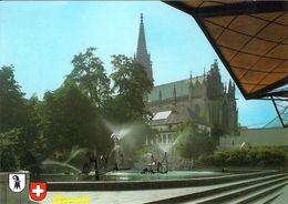 1 AK Schweiz * Basel - Der Fasnachtbrunnen Von Tinguely Beim Stadttheater Und Der Elisabethenkirche - Kanton Basel-Stadt - BS Bâle-Ville