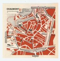 CARTE PLAN 1960 - CHAUMONT - MARCHÉ BANQUE DE FRANCE PALAIS DE JUSTICE - Mapas Topográficas