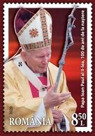 ROMANIA  2020  CENTENARY OF THE BIRTH OF POPE JOHN PAUL II-set 1 Stamp  MNH** - Papas