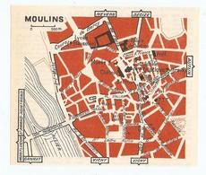 CARTE PLAN 1960 - MOULINS - BEFFROI CHATEAU MUSÉE MAUSOLÉE - Mapas Topográficas