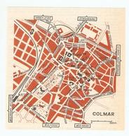 CARTE PLAN 1960 - COLMAR - BAINS ANCIENNE DOUANE COUR D'APPEL COUR D'APPEL - Mapas Topográficas