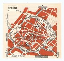 CARTE PLAN 1960 - BEAUNE - BASTION St MARTIN MAISON XIII ème PALAIS DE JUSTICE - Mapas Topográficas