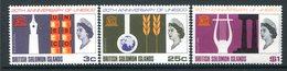 British Solomon Islands 1966 20th Anniversary Of UNESCO Set MNH (SG 157-159) - Iles Salomon (...-1978)