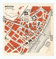 CARTE PLAN 1960 - MACON - HOTEL DIEU PHARMACIE HOTEL SÉNECE MAISON DE BOIS - Mapas Topográficas